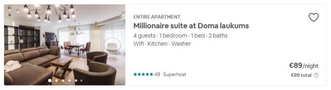 airbnb sludinajums
