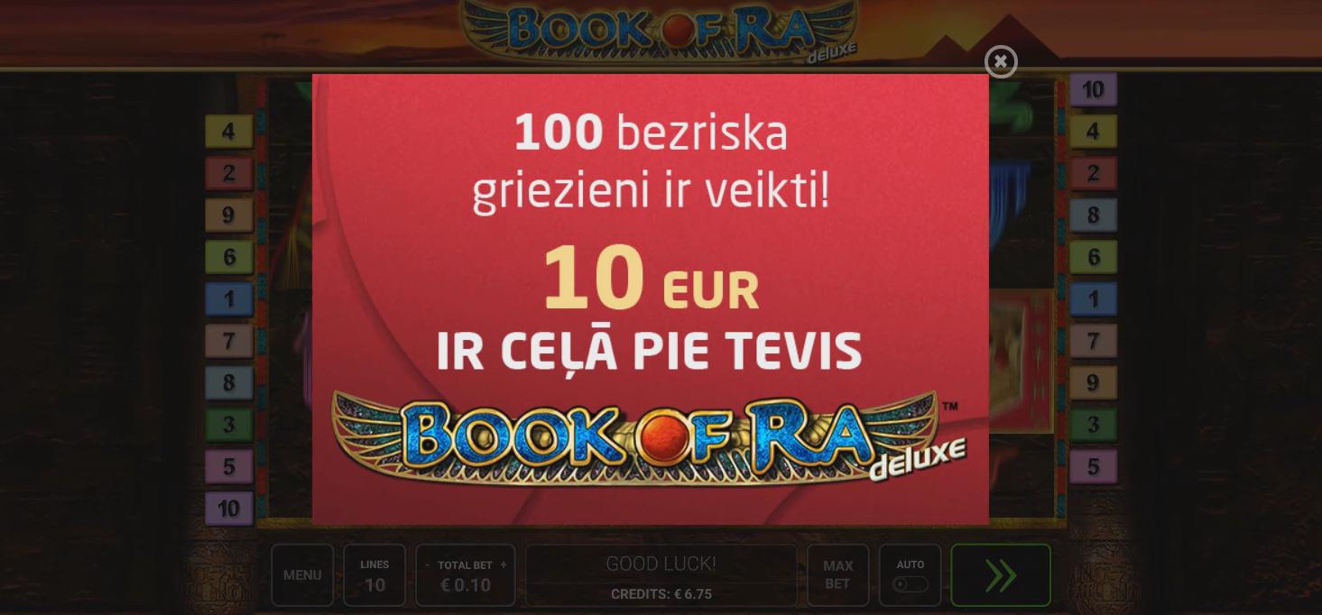 Video: Synottip jauno klientu bonuss – 100 bezriska griezieni Book of RA spēlē