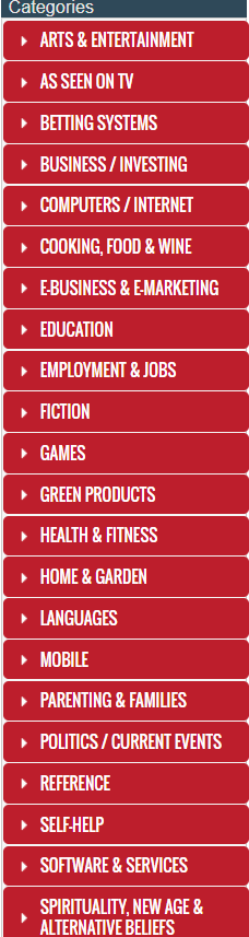 clickbank produktu kategorijas